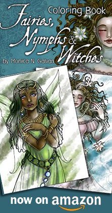 Fairies, Nymphs & Witches: Coloring Book on Amazon!