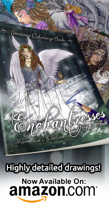 Enchantresses and Fair Folk: Fantasy Coloring Book on Amazon!