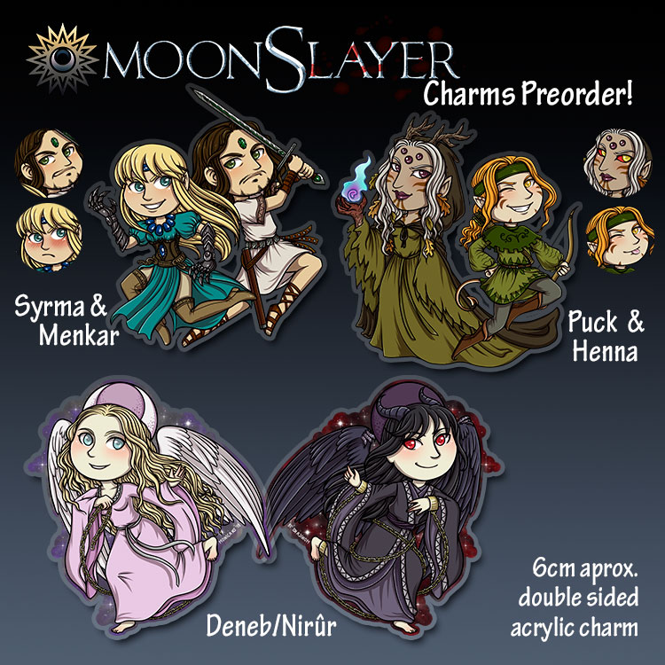 MoonSlayer Charms preorder open! + Fanzine preview